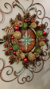 Wreath over Metal Art