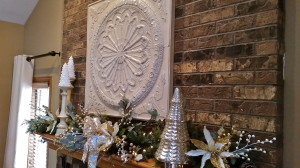 Silver, White & Gold Mantel