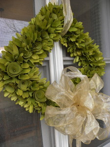 Wreath Over Window Outside