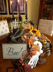 Decorating for fall and Halloween