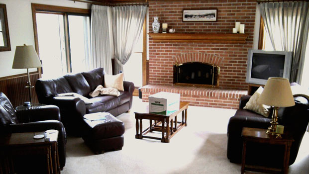 Johnson Family Room Before and After