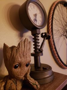 Vignette including Groot vase & Industrial Clock