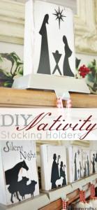 nativity stocking holders